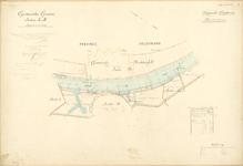 435 Kaart Maas behorend bij legger van corporele goederen in Grave, 1893 - 1910