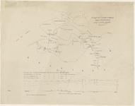 1535 Schetskaart van de Westerschelde tussen Vlissingen en Rupelmonde verdeeld in 3 secties. Onder de kaart een grafiek ...