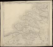 1694 Blad I bij de kaart van Nederland (in 16 bladen) door C.R.T. Krayenhoff. Met richtingaanduiding en gradenverdeling ...