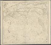1695 Blad IV van de kaart van Nederland (in 16 bladen) door C.R.T. Krayenhoff. Met richtingaanduiding en ...