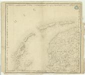 1698 Blad VI bij de kaart van Nederland (in 16 bladen) door C.R.T. Krayenhoff. Met richtingaanduiding en ...