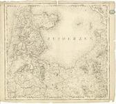 1699 Blad V bij de kaart van Nederland (in 16 bladen) door C.R.T. Krayenhoff. Met richtingaanduiding en gradenverdeling ...
