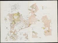 1815 Kaart van gedeelte van de kadastrale gemeenten Baarle-Nassau en Meerle, met windroos, en perceelnummers ...