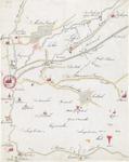 2241 Kopie van een (zeventiende eeuwse?) kaart van het gebied ten westen van Breda tot de lijn Rijsbergen-Etten-Leur. ...