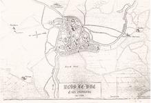 1H13 Plattegrondje van 's-Hertogenbosch e.o. in 1566: 'Bois-le-Duc et ses environs en 1566', 1566