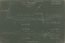 231 Kaart bij legger dotatie Prins Frederik, artikelnr 2, gemeente Zevenbergen D1,2, F1, G2, H1, I1, 3, 1927 - 1941