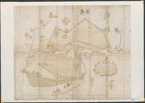 114 Figuratieve kaart van de Rooise heide, welke in 1311 door hertog Jan II is verkocht; kopie van een kopie van 1590, ...
